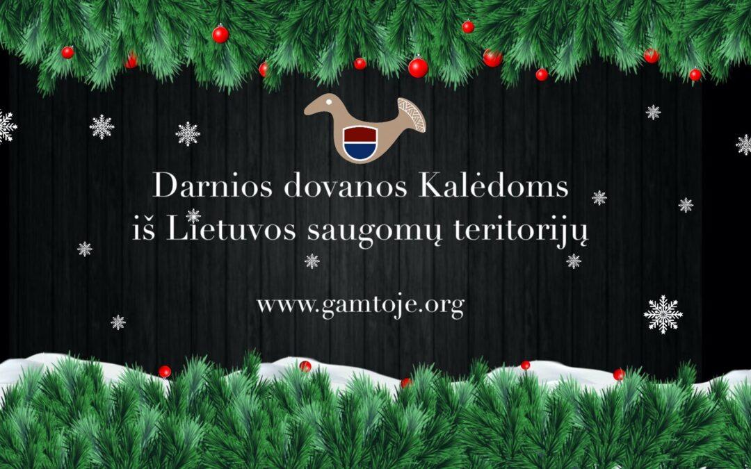 Kalėdoms ragina rinktis gamtai draugiškas dovanas iš saugomų teritorijų